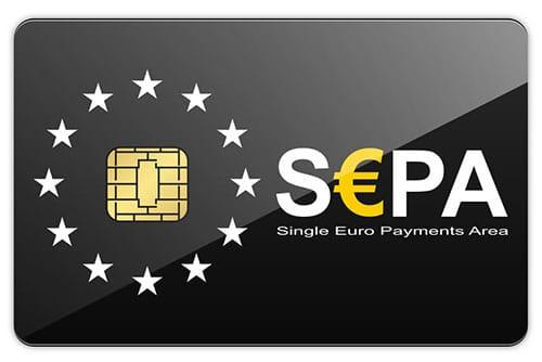 schwarze SEPA Chipkarte